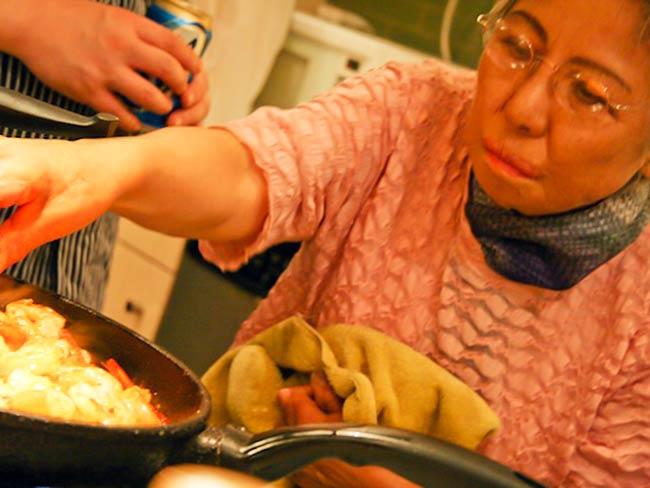 Shigeko Sasamori hard at work, May, 2011