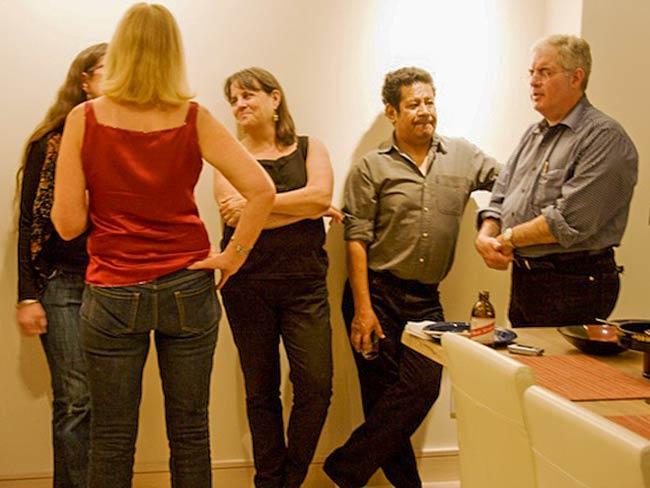 Carolina Soto (in red), Debbie Brindis, Luis Brindis and Steve Smith, May, 2011