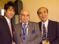 Yuji and Masahiro Sasaki, nephew and brother of Sadako Sasaki, with Sergio Duarte