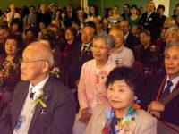 Visiting hibakusha heard music and talks