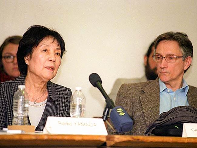 Reiko Yamada and Clifton Daniel