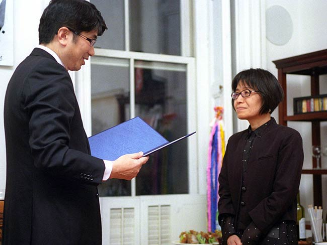 Mayor Taue & Miyako Taguchi