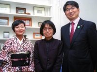 Keiko Tsuyama, Miyako Taguchi & Mayor Taue