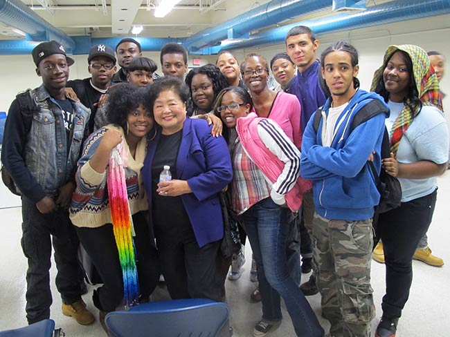 Students at Aspirations High School
