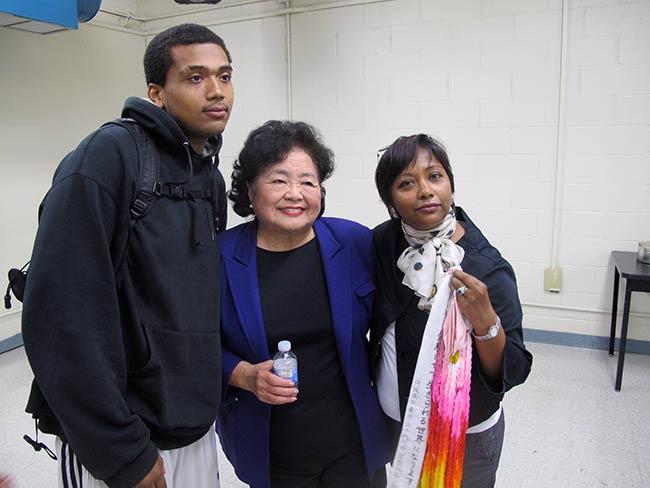 Shigeko Sasamori with Aspirations Principal Shermila Bharat
