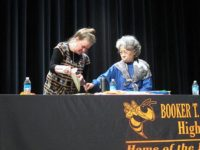 Kathleen Sullivan and Shigeko Sasamori doing the BB demonstration