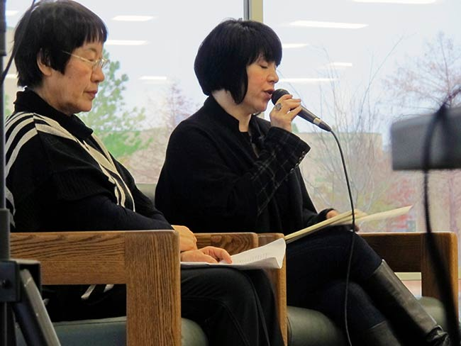 Toshiko Tanaka and Marie Cochrane at Tulsa Community College