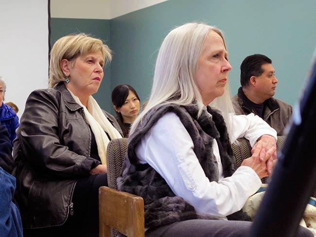 Annie Malloy (l) at Tulsa Community College