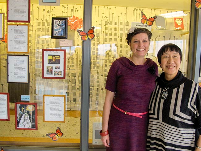 Toshiko Tanaka and Tulsa Community College librarian