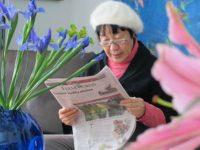 Toshiko Tanaka reads of Hibakusha Stories in the Tulsa World