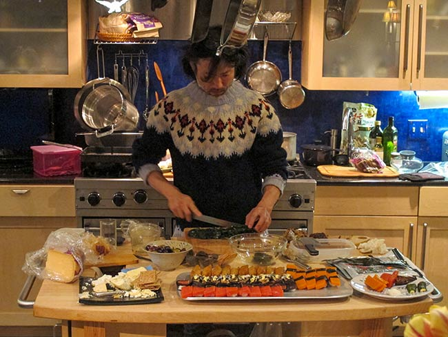 Hayato Nakao prepares tomato and carrot aspic