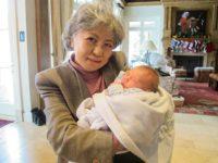 Shigeko Sasamori with the grandchild of Kathy Taylor