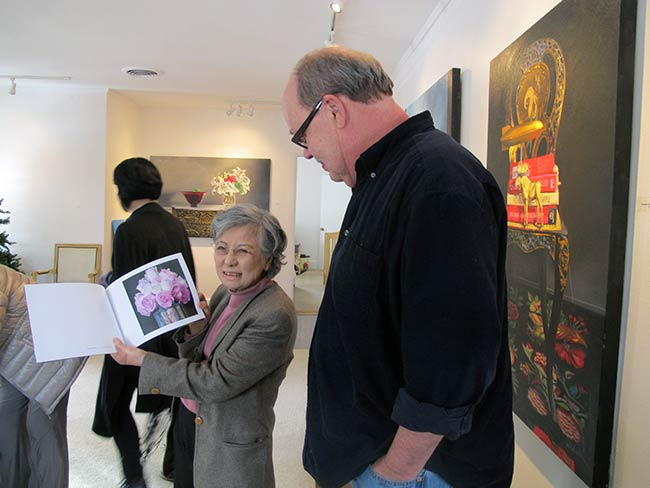 Shigeko Sasamori and artist Patrick Gordon