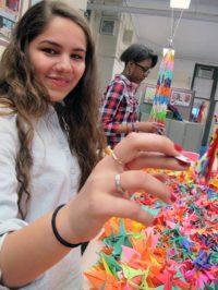Origami cranes, NYC i-School