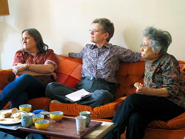 Deb Brindis, Elizabeth Baldwin and Shigeko Sasamori