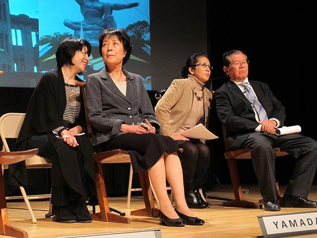 Marie Cochrane, Reiko Yamada, Rachel Clark and Michio Hakariya