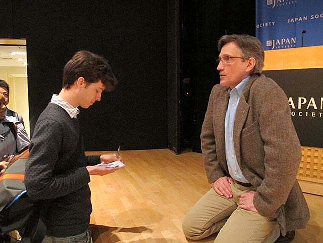 Columbia journalism student Pierre Bienaimé inteviews Clifton Daniel
