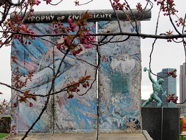 A section of the Berlin Wall, UN Headquarters