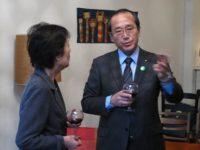 Reiko Yamada and Hiroshima Mayor Kazumi Matsui