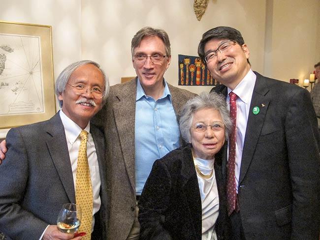 Gary Mukai, Clifton Daniel, Shigeko Sasamori and Mayor Tomihisa Taue