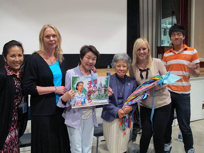 Rachel Clark, Kristen Iversen, Nobuko Sugino, Shigeko Sasamori and Kristen Kavanaugh, High School of Dual Languages