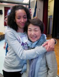 Nobuko Sugino and student, University Heights