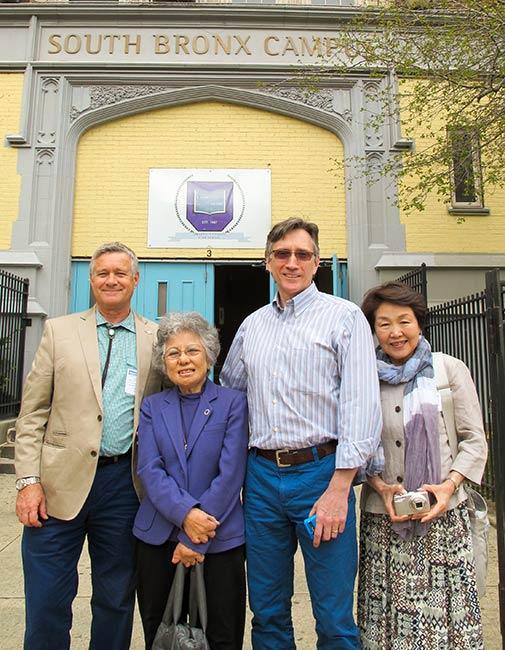 Robert Croonquist, Shigeko Sasamori, Clifton Daniel and Nobuko Sugino, University Heights