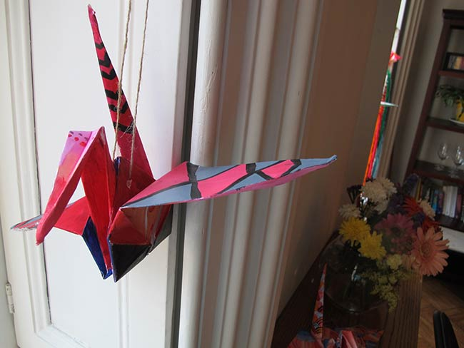 Origami Cranes from Northside Charter