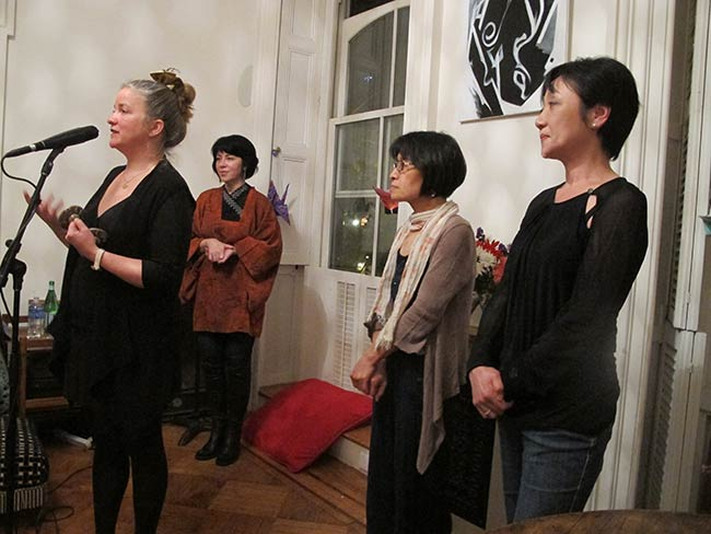 Kathleen Sullivan, Marie Cochrane, Miyako Taguchi and Mitchie Takeuchi