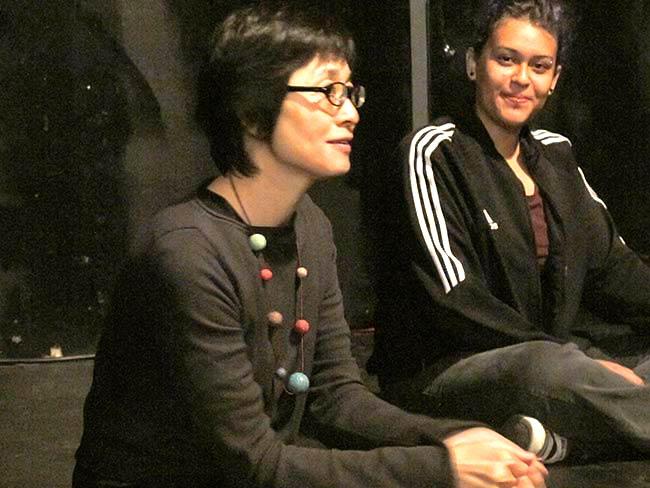 Journalist Kaoru Komi participates in the day's activities