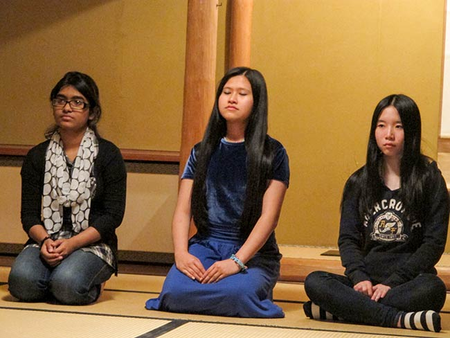 Students from Brooklyn International at Tea Ceremony