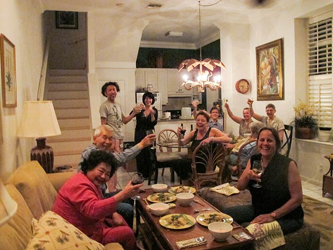 The team toasts chef Hayato Nakao