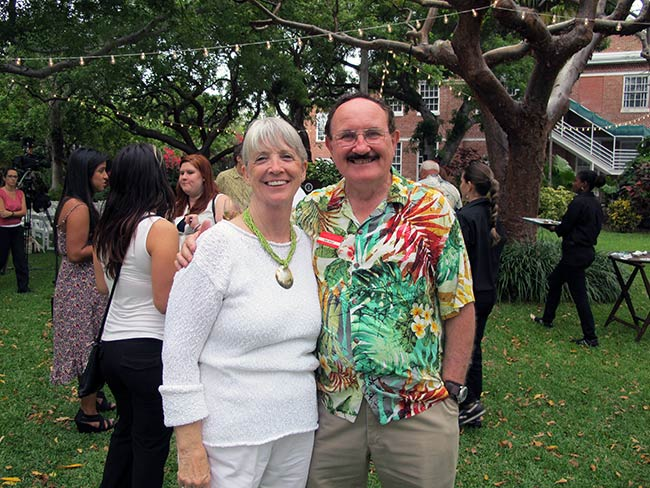 Mary Lou Pfeiffer of Florida International and Bob Wolz, Little White House