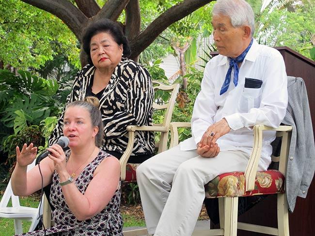Kathleen Sullivan, Setsuko Thurlow and Yasuaki Yamashita