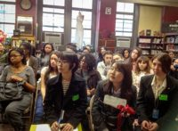 Students at the High School of Fashion Industries