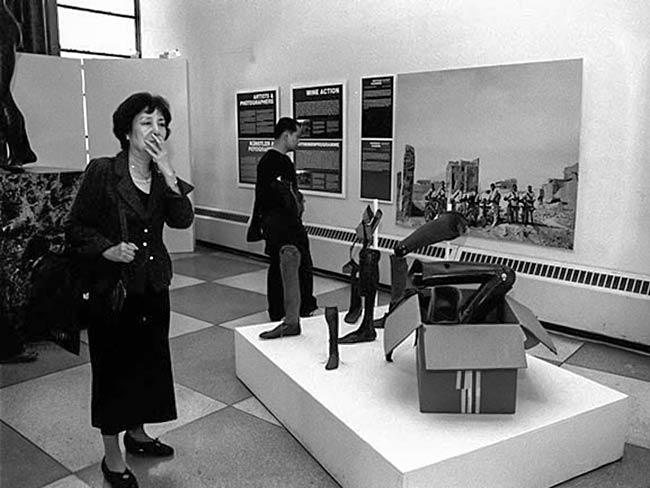 Reiko Yamada at the Disarmament Exhibit at UN Headquarters