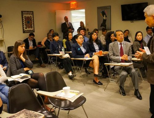 Hibakusha Meets UN Tour Guides and Interns