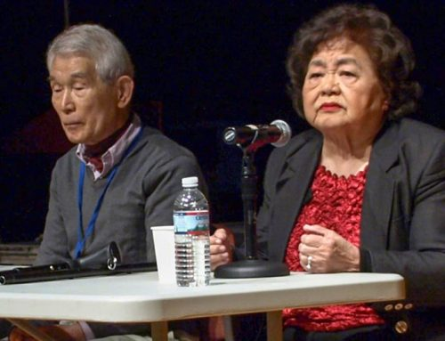Atomic Bomb Survivors Talk to Students at UNIS