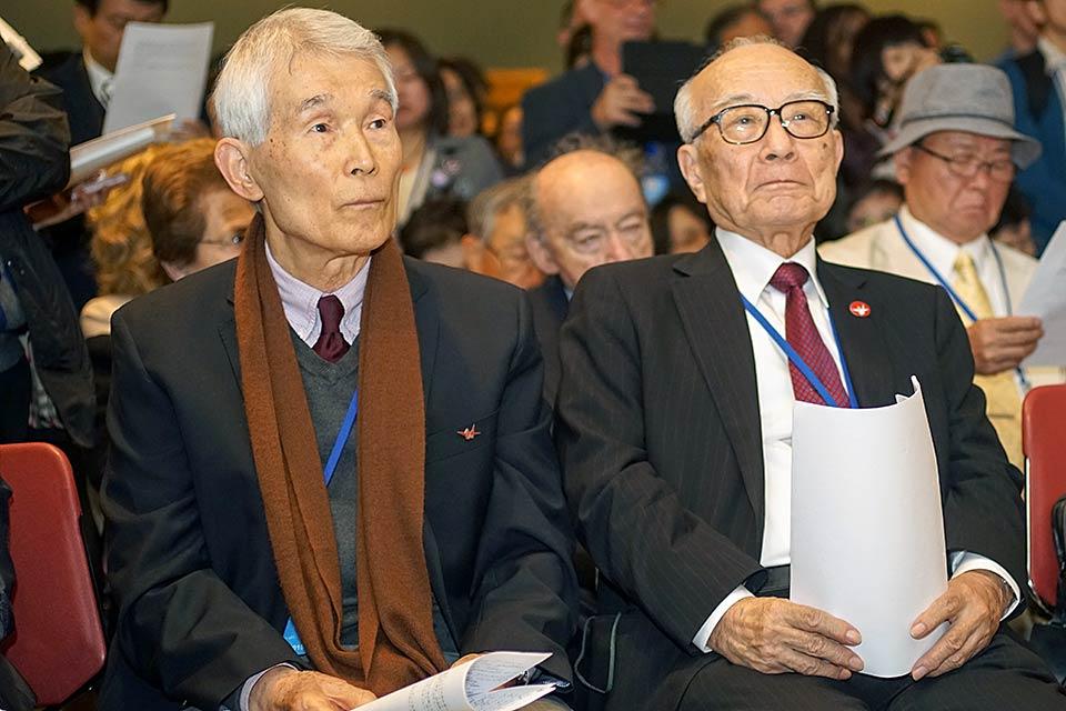 Yasuaki Yamashita, Terumi Tanaka, Secretary General, Hidankyo
