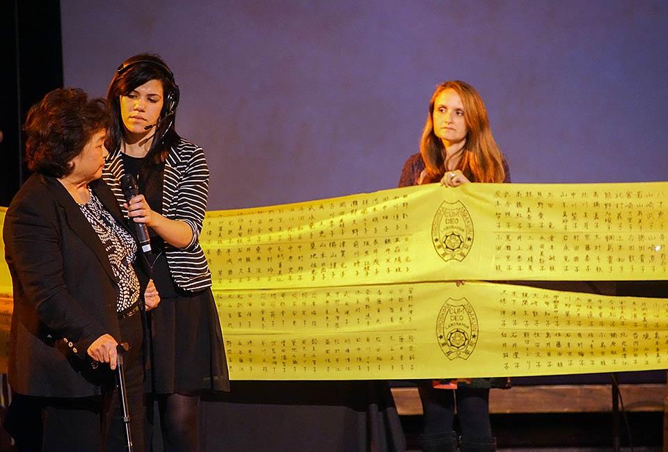 Setsuko Thurlow and names of classmates who perished