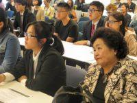 Visiting Japanese students, Setsuko Thurlow