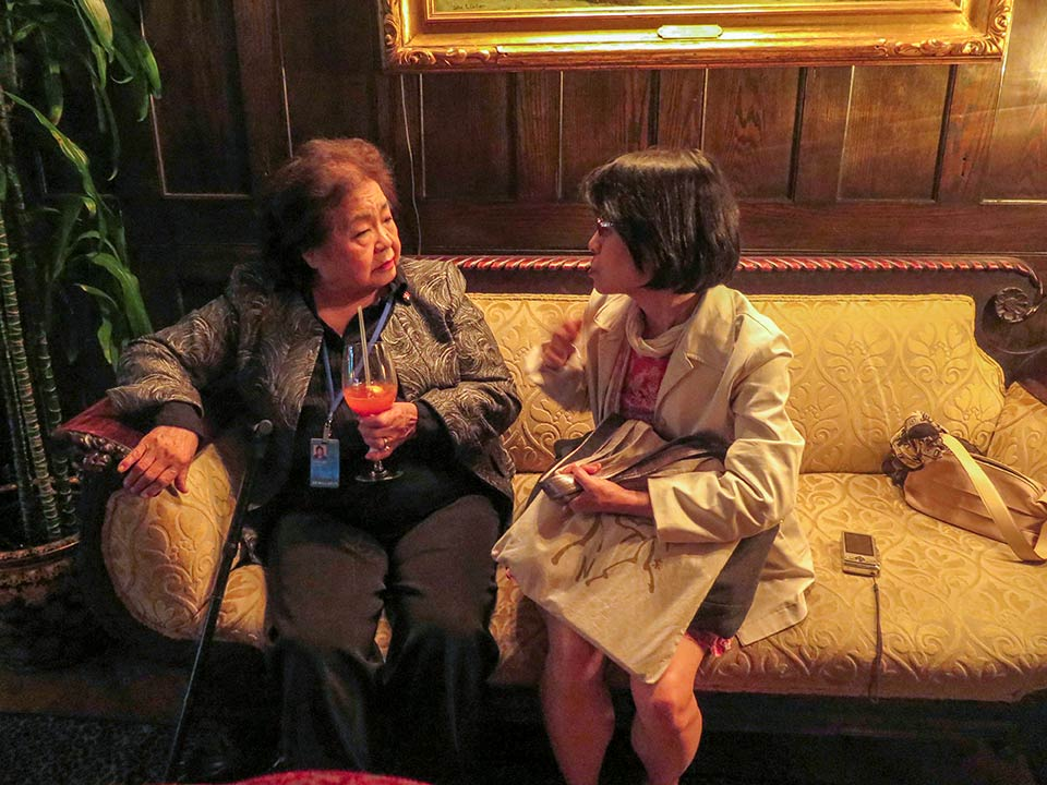 Setsuko Thurlow, Miyako Taguchi at the National Arts Club