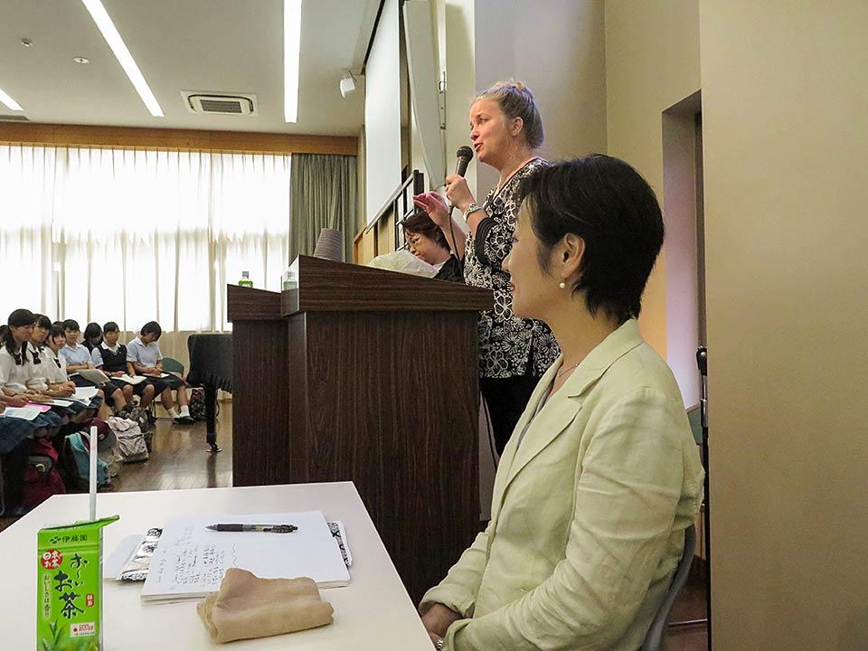 Mrs. Takami, Kathleen Sullivan, Mitchie Takekuchi