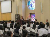 Mrs. Takami, Kathleen Sullivan, Mitchie Takekuchi, Robert Croonquist