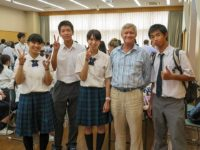 Hiroshima Jogakuin students, Robert Croonquist