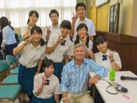 Hiroshima Jogakuin students, Robert Croonquist