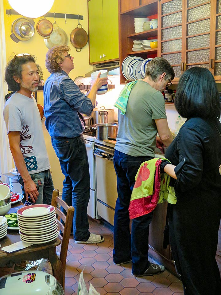 In the kitchen, Hayato Nakao, Blaise Dupuy, Clifton Daniel