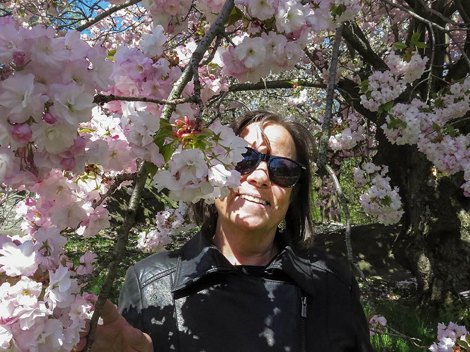 Debra Brindis at the New York Botanical Garden