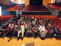 Reiko Yamada, Clifton Daniel, Mott Haven HS students