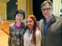 Reiko Yamada, Clifton Daniel, Mott Haven HS student